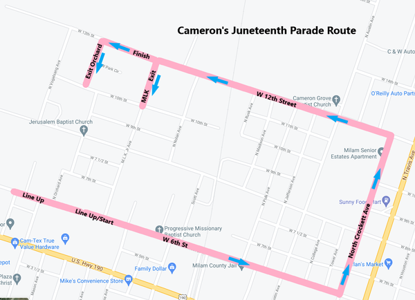 Gallery Image Cameron%20Juneteenth%20Parade%20Route.png