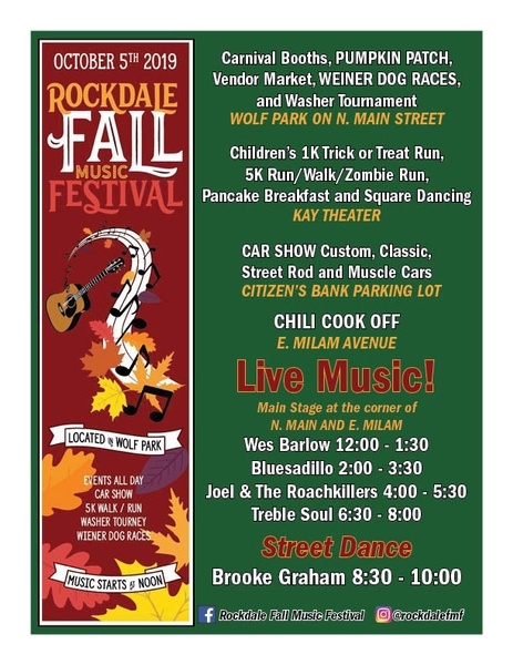 Join the Rockdale Chamber of Commerce for the Rockdale Fall Music Fest!