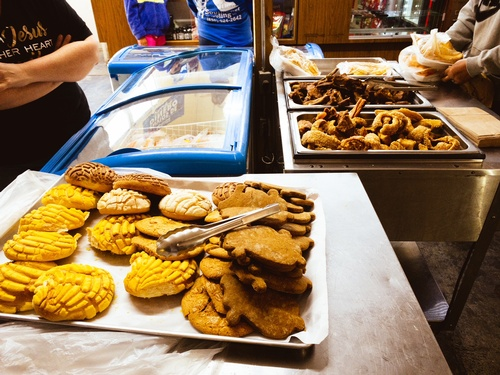 Fresh Conchas (Mexican Sweet Bread) and Marranitos (Mexican Gingerbread Pigs)