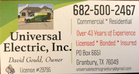Universal Electric, Inc.