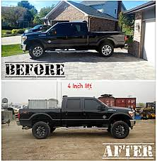 Before & After Lift Kit Installation