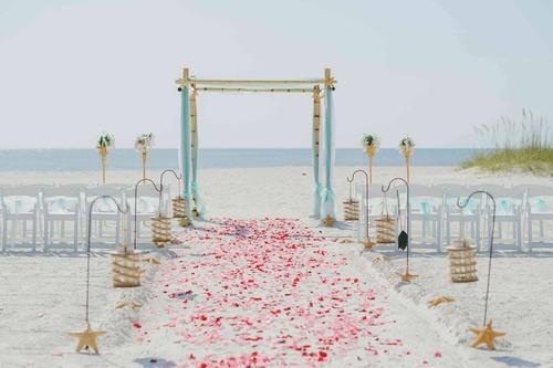 Country Fair Themed Beach Wedding
