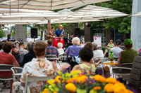 Music on the Plaza is hosted Friday evenings June-Aug.