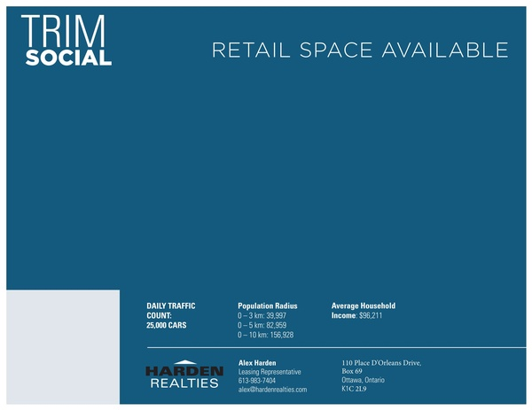 Trim Social - Retail Space Available