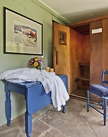 Nordic sauna for two with spa robes for health and relaxation