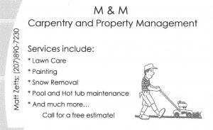 M & M Carpentry and Property Management