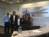 Mayor Oralia Rebollo visits Monogram Aerospace