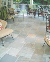 Give your sunroom warmth with a heated floor under your new natural stone.