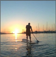 paddleboarding in Stage Harbo