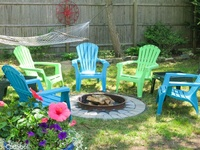 Outdoor fire pit, hammock, gas grill, outdoor shower, flowers, ahhh Cape Cod