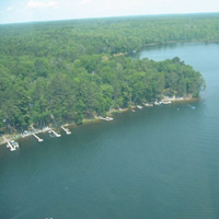 Aerial View of Hiller's Pine Haven