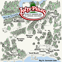 Map of Lofty Pines Resort