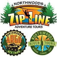 NORTHWOODS ZIP LINE, AERIAL TREK, ARGO ATV, AND KAYAK RIVER ADVENTURE TOURS