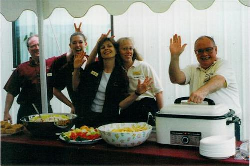 Staff at the 2002 Customer Appriciation Picnic