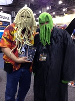 Our Cthulhu mascot met another Cthulhu Mascot and it went well