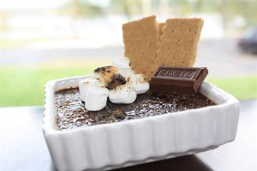 Seasonal house made desserts - S'mores creme brulee!