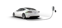 Tesla Model S with Home Charger