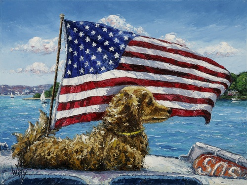"""The Magic of Rescue"" Flag and Harbor Point 18 x 24 Print available"