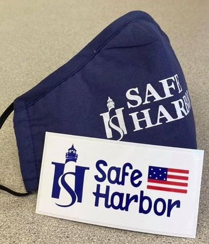 Safe Harbor Face Mask and Window Cling