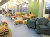 The bright and interactive Children and Teens Department on the Lower Level of the library.