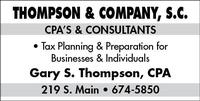 Thompson & Company S.C.