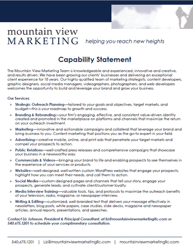 Mountain View Marketing has been helping our clients thrive for 18 years.