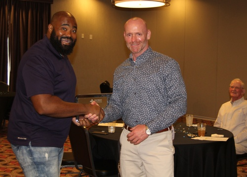 Outgoing Chair of Board, Elijah Taylor, recognized for service