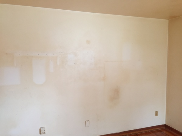 Before: Living Room Wall with Nicotine Stains