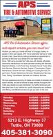 APS Tire & Automotive Service, Inc