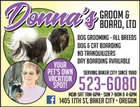 Donna's Groom & Board, LTD