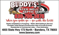 Buddy's Septic and Water Well Service LLC