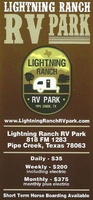Lightning Ranch RV Park