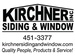 Kirchner Siding & Window, Inc.