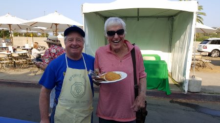 Dick Van Dyke with Optimist Club's Frank Brady, Malibu Arts Festival
