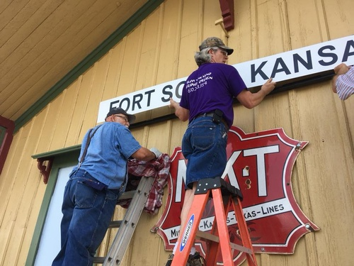 Signage job for Historical Depot