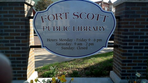 Signage job for Fort Scott Public Library