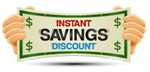 Instant Savings Discount