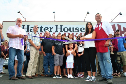 Ribbon cutting July , 2019 at Harter House Supermarket in Berryville.