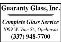 GUARANTY GLASS, INC.