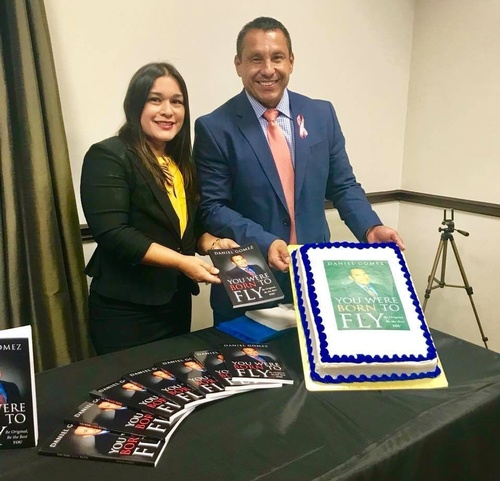 ''You Were Born to Fly'' book signing with wife Mari