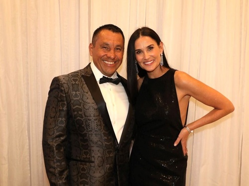 Daniel and actress, Demi Moore