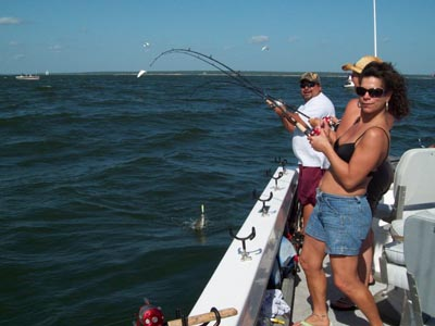 Guided Striped Bass Fishing Trip