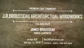 J.R. Brousseau Architectural Woodworks
