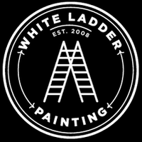 White Ladder Painting