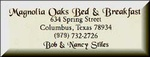Magnolia Oaks Bed and Breakfast