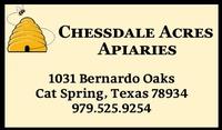 Chessdale Acres Apiaries