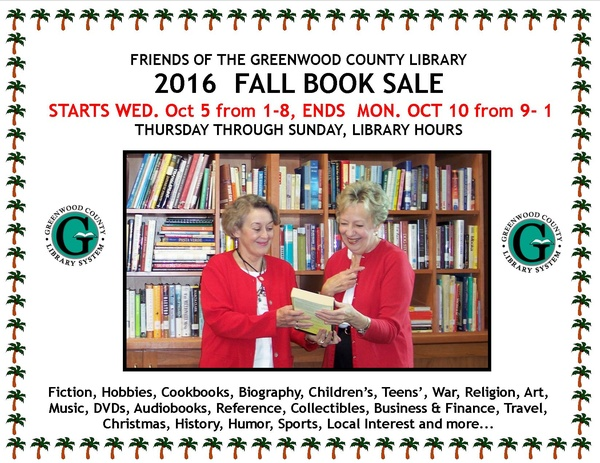 2016 Fall Book Sale October 5 - 10