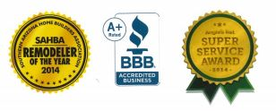 SAHBA Remodeler of the Year, BBB A+ & Angie's List Super Service Award