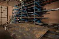 Steel coming in for manufacturing