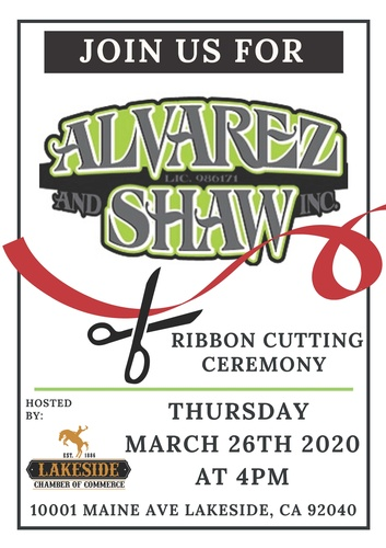 Ribbon-Cutting on 3/26/2020